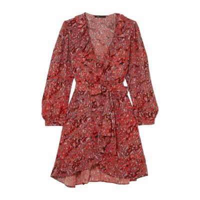 MAJE ミニワンピース&ドレス レッド 1 レーヨン 100% ミニワンピース&ドレス