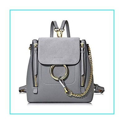 KELUNIS Fashion Casual Small Backpack Purse for Women PU Leather Travel School Anti Theft Shoulder Bags,Gray【並行輸入品】