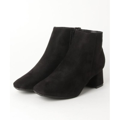 ZealMarket/SFW / 6cmチャンキーヒールスクエアトゥショートブーツ WOMEN シューズ > ブーツ