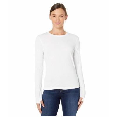 アシックス シャツ トップス レディース Run Silver Long Sleeve Top Brilliant White