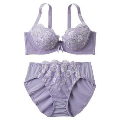 背中キレイブラジャー・ショーツセット(脇高タイプ)(C70/M) (ブラジャー&ショーツセット)Bras & Panties