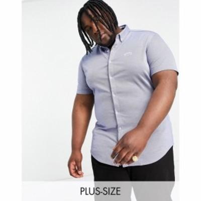 ヒューゴ ボス BOSS Athleisure メンズ 半袖シャツ トップス Biadia short sleeve shirt in light blue ライトブルー