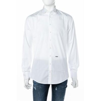 ディースクエアード DSQUARED2 シャツ ホワイト メンズ (S74DM0074S44131) 送料無料