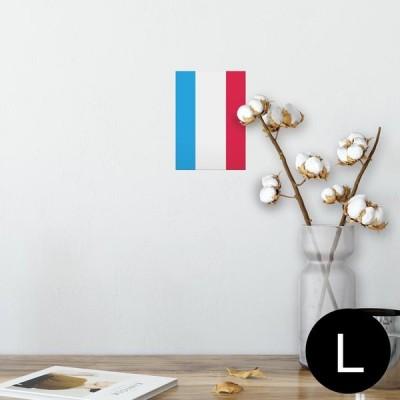 ポスター ウォールステッカー シール式 89×127mm L版 写真 壁 インテリア おしゃれ wall sticker poster 外国 国旗 002442