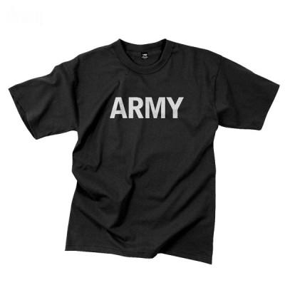 光るリフレクタープリントARMY Tシャツ ロスコ Rothco Army Reflective Grey P/T T-shirt