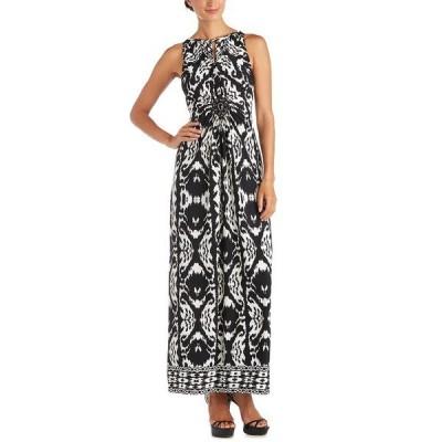 アールアンドエムリチャーズ ワンピース トップス レディース Printed Keyhole Maxi Dress Black/Ivory