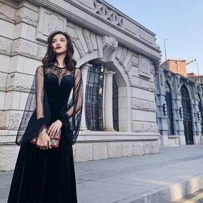 エレガンス ワンピース?ドレス レース ファッション セクシー パーティー 結婚式 ドレス お呼ばれ 二次 同窓会 普段着用 LF11