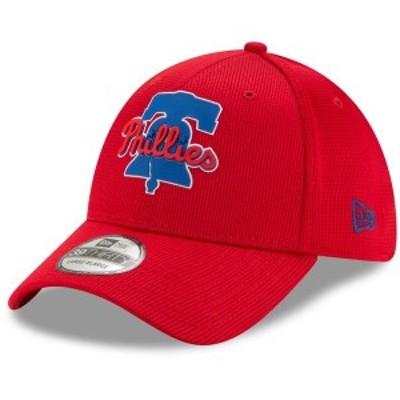 ニューエラ メンズ 帽子 アクセサリー Philadelphia Phillies New Era Clubhouse 39THIRTY Flex Hat Red