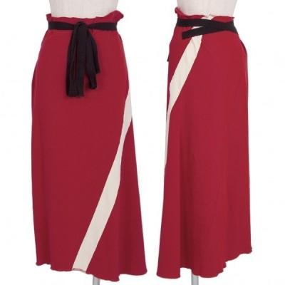 トリココムデギャルソンtricot COMME des GARCONS バイアスラインデザインストレッチスカート 赤白M位 【レディース】