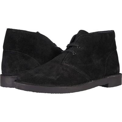 クラークス Bushacre 3 メンズ ブーツ Black Waxy Suede