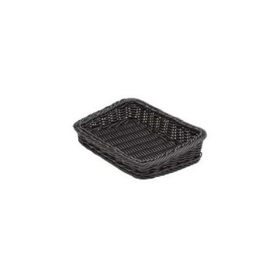 樹脂製太渕ディスプレイかご 傾斜型 小 黒 91-028B