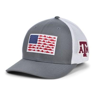 コロンビア 帽子 アクセサリー メンズ Texas A&M Aggies PFG Fish Flag Stretch-fitted Cap Charcoal/White
