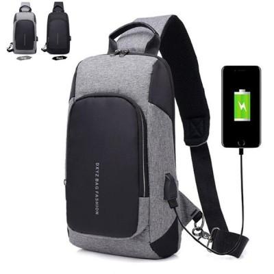 KAKAボディバッグ メンズ USB充電搭載 セカンドバッグ ショルダー 肩掛け アウトドア