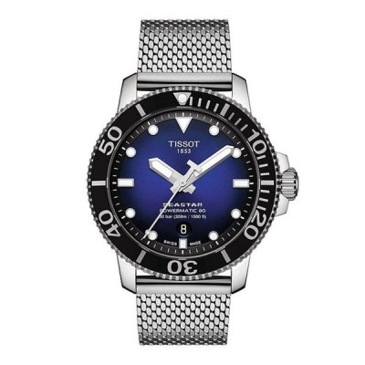 ティソット メンズ 腕時計 アクセサリー Seastar 1000 Powermatic 80 Blue Dial Watch
