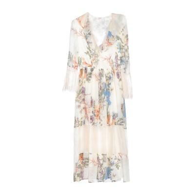 ブルーガール ブルマリン BLUGIRL BLUMARINE 7分丈ワンピース・ドレス アイボリー 42 レーヨン 100% / ナイロン / アセ