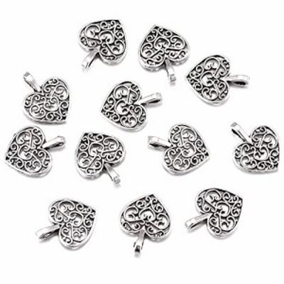 特別価格送料無料100pcs Antique Silver Plated Hollow Lovely Heart Charms Pendant DIY Bracelets Necklace Jewel
