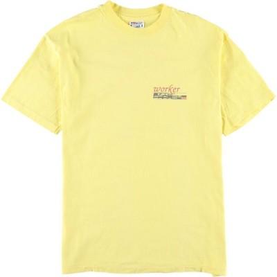 90年代 ヘインズ Hanes BEEFY-T アドバタイジングTシャツ USA製 メンズL ヴィンテージ /eaa159602