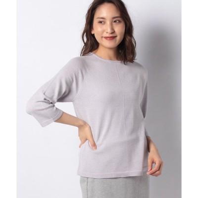 【ラピーヌ ブランシュ】【洗える】12G ホールガーメントセーター
