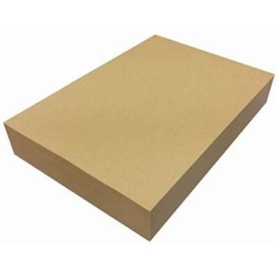 ペーパーエントランス クラフト紙 A4 75.5kg 500枚 プリンター用紙 包装紙 ラッピング ブックカバー 業務用 未晒 ブラウン 55021