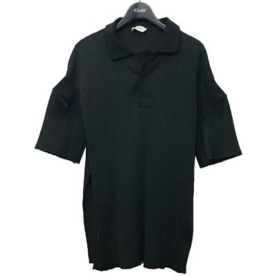 IRENE 2018SS リブポロシャツ ブラック サイズ:36 (自由が丘店) 210510