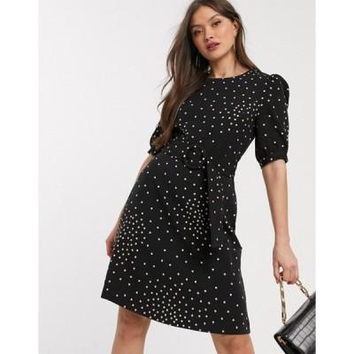 ウエアハウス レディース ワンピース トップス Warehouse mini dress with buckle detail in polka dot