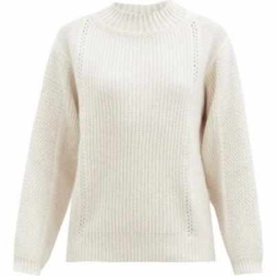 クロエ See By Chloe レディース ニット・セーター トップス Ribbed wool-blend sweater Ivory