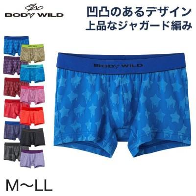 グンゼ BodyWild ナイロンジャガードボクサーパンツ M〜LL (GUNZE ボディーワイルド 男性 紳士 メンズ ボクサーブリーフ インナーウェアー 前とじ M L LL)