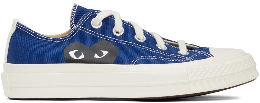 Comme des Garçons Play 蓝色 Converse 联名 Half Heart Chuck 70 运动鞋