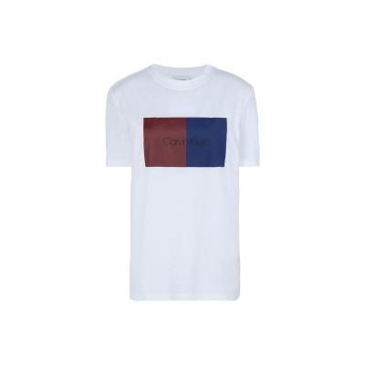 カルバン クライン CALVIN KLEIN T シャツ ホワイト L 100% コットン T シャツ