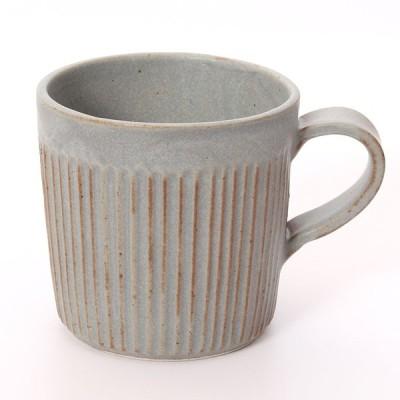 LOLO 伸光窯 しのぎマグカップ 灰 SA00(グレー)