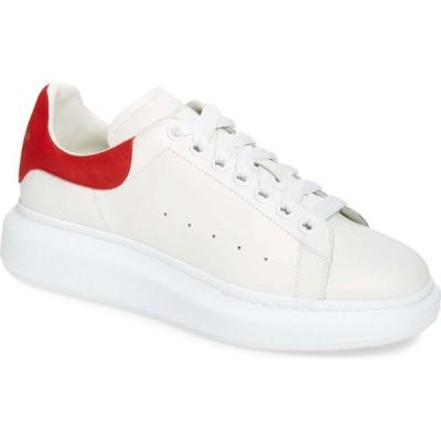 アレキサンダー マックイーン ALEXANDER MCQUEEN メンズ スニーカー ローカット シューズ・靴 Oversize Low Top Sneaker White/Lust Red