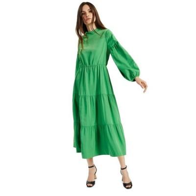 アルファニ レディース ワンピース トップス Petite Tiered Midi Dress