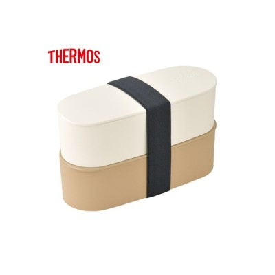 サーモス 2段式 お弁当箱 ランチボックス 600ml フレッシュランチボックス DJT-600W-BE ベージュ【60サイズ】