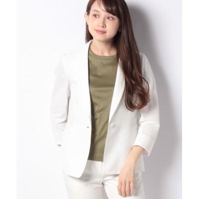 【レリアン】 テーラードジャケット レディース オフホワイト 9 Leilian