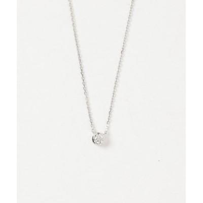 ete / PT900 ダイヤモンド 0.2ct ネックレス「ブライト」 WOMEN アクセサリー > ネックレス