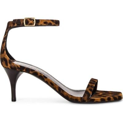 イヴ サンローラン Saint Laurent レディース サンダル・ミュール シューズ・靴 lexi ankle sandals Manto Naturale Caffe