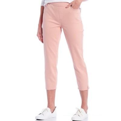 ウェストボンド レディース カジュアルパンツ ボトムス the HIGH RISE fit Crop Pants Mellow Rose