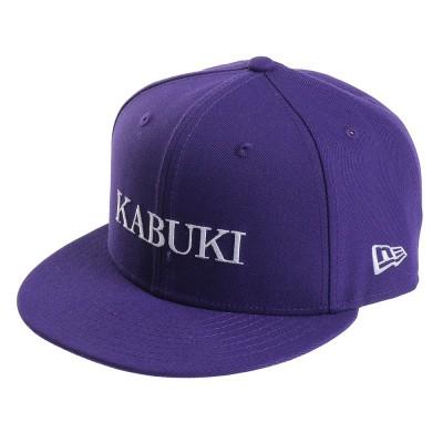 NEW ERA帽子9FIFTY 歌舞伎 ロゴキャップ PUR 12353375ブラック
