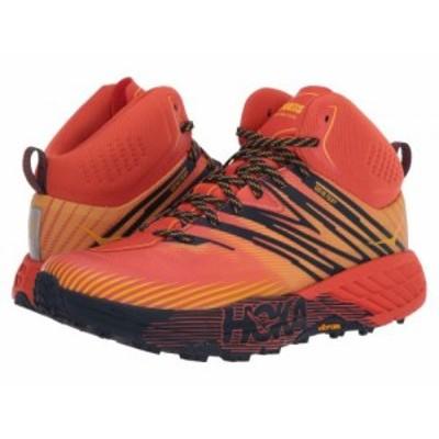 Hoka One One ホカオネオネ メンズ 男性用 シューズ 靴 スニーカー 運動靴 Speedgoat Mid 2 GTX Mandarin Red/Gold Fusion【送料無料】