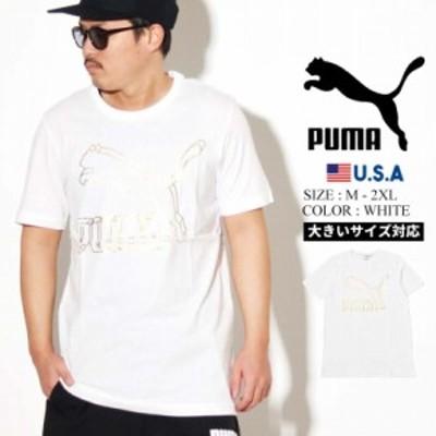 PUMA プーマ 半袖 Tシャツ メンズ CLASSICS LOGO TEE 62 PUMA WHITE 2 595132 夏新作