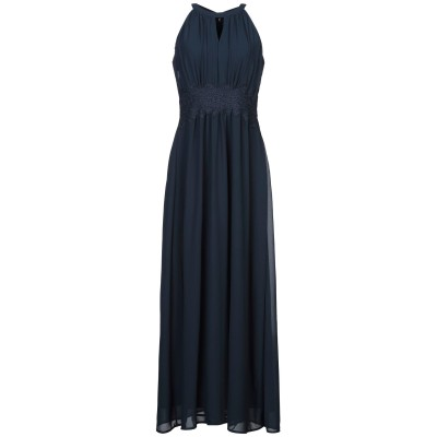 VILA ロングワンピース&ドレス ダークブルー 36 ポリエステル 100% ロングワンピース&ドレス