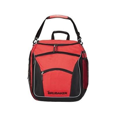 BRUBAKER Winter Sports Ski Boot Bag Professional Backpack Black Red