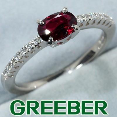 ルビー 0.66ct ダイヤ ダイヤモンド 0.10ct リング 指輪 K18WG GENJ 限界値下げ品