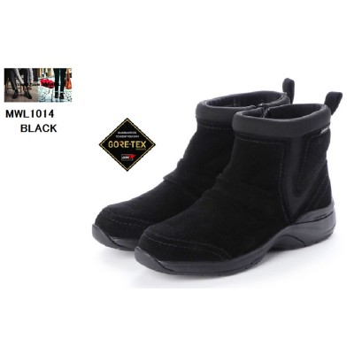(madras Walk)マドラスウォーク MWL1014 【GORE-TEX】レザーサイドファスナーカジュアルブーツ 脱ぎ履き楽らく スポーティスリッポンブーツ レディス(NAVY×25.0cm)