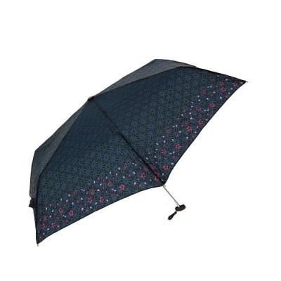 (BACKYARD/バックヤード)和柄折りたたみ傘 50cm/レディース ネイビー