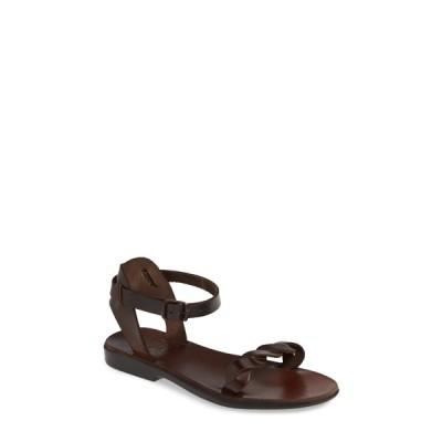 エルサレムサンダル サンダル シューズ レディース Arden Ankle Strap Sandal Brown Leather