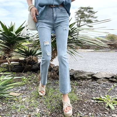 [NANING9] (ナンニング)リアンツ·ブーツカット·デニム·パンツ韓国のファッションNO.1 #トレンドライクな大人女子コーデ