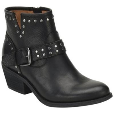 ソフト レディース ブーツ&レインブーツ シューズ Allene Bootie Black Smooth Leather