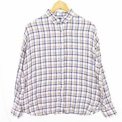 【中古】フレームワーク Framework ワイドシャツ テンセル チェック sa9625 レディース