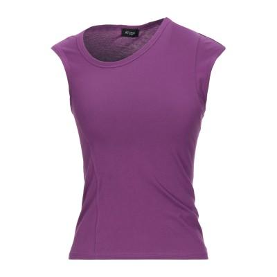 ATLEIN T シャツ ライトパープル 38 コットン 100% T シャツ